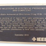 IEEE Milestone plaque.  John Galt was an integral member of this experiment.