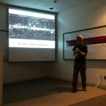 Carl Heiles showing how magnetic fields affect starlight in the Milky Way.