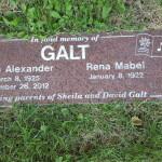 Gravesite of John A. Galt.